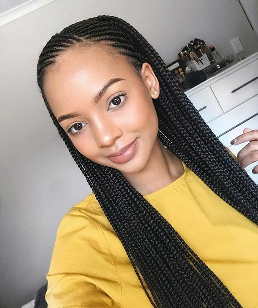 30 Black Braided Hairstyles You Can Try For A Fancy Hairstyle Change Black Braided Change Fan Cool Braid Hairstyles Cornrow Hairstyles Braided Hairstyles