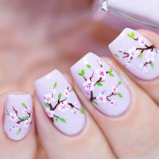 Japanese Cherry Blossom Nail Art Cherry Blossom Nails Cherry Blossom Nails Art Cherry Blossom Nails Design