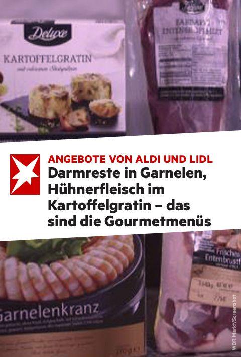 Darmreste In Garnelen Huhnerfleisch Im Kartoffelgratin Das Sind Die Gourmetmenus Vom Discounter Gourmet Lebensmittel Essen Essen