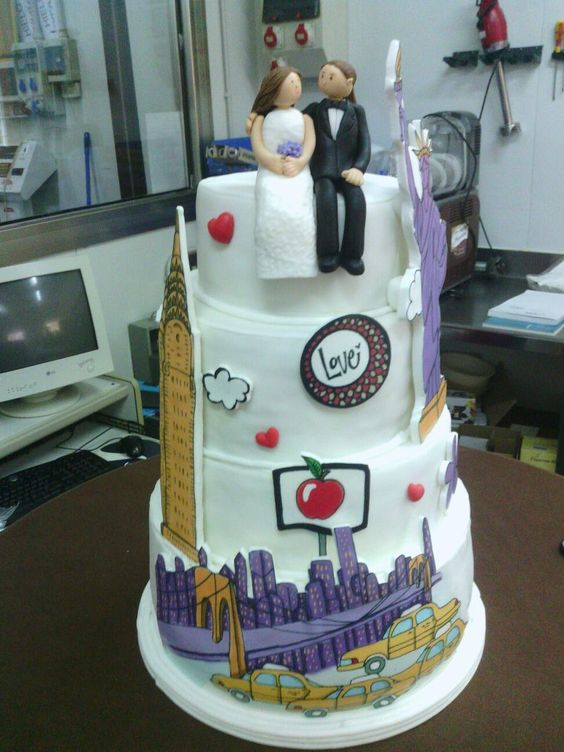 Diseño de tarta de bodas