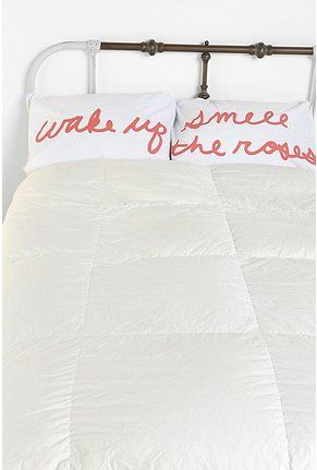 Pillowcases. A cheerful morning reminder