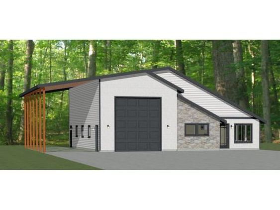 46x48 House 1 Bedroom 1 5 Bath 1157 Sq Ft Pdf Floor Etsy In 2020 Barn House Plans Pole Barn House Plans Steel Building Homes