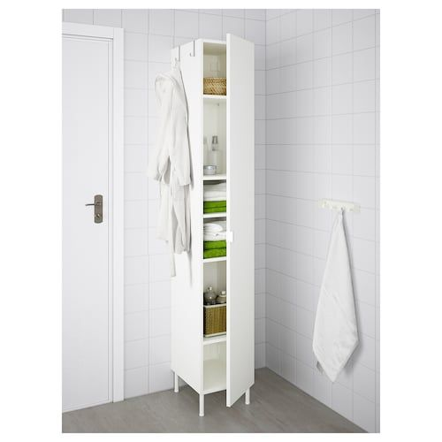 Lillangen High Cabinet 1 Door White 11 3 4x15x74 3 8 Tall Bathroom Storage Cabinet White Bathroom Storage Cabinet Tall Bathroom Storage