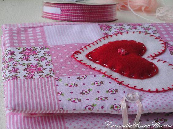 CamomilaRosa e Alecrim: Livro agulheiro de tecido e feltro...