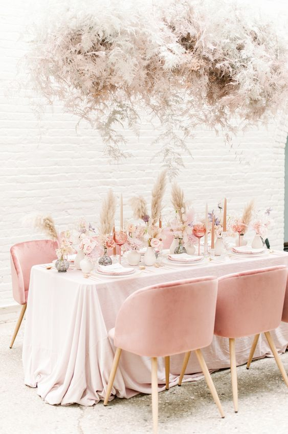 Modern chic blush wedding decor #wedding #weddingshoes #weddingday #marryingmybestfriend #weddingfashion #bridestyle #sayido #weddingflowers #weddingarrangements #weddinginspo #weddinginpiration #engagemnetrings #weddingphotography #engaged