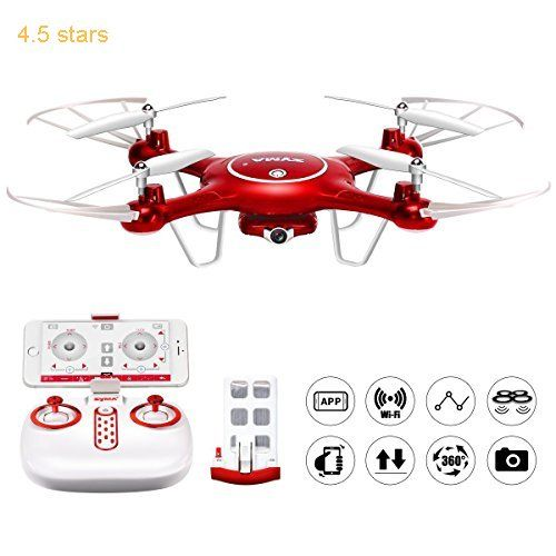 Syma X5uw Wifi Fpv 720p Hd Camera Quadcopter Drone With Flight Plan Route App Control And Altitude Hold Function Red Quadcopter Mini Drone Drone Quadcopter