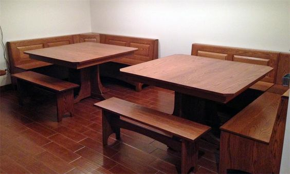 Custom Breakfast Nook Set - Solid Hardwood and Made in the USA by Old Order Amish woodworker