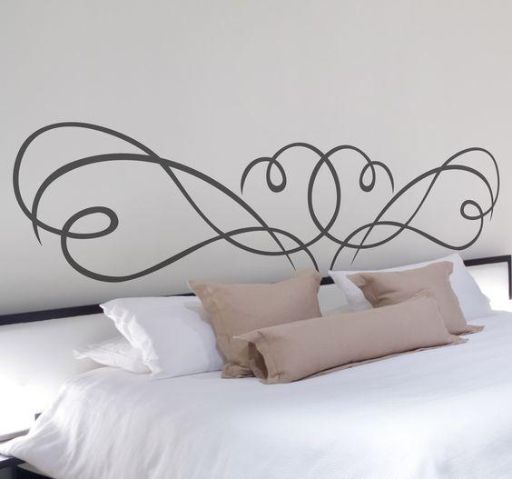 A creative and original headboard sticker to make your bed stand out. A great decal to give your bedroom a touch of your own. This design is super easy to apply and does not leave any residue on your wall upon removal. Available in various sizes and colours.