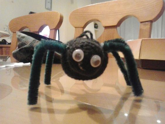 araña de crochet