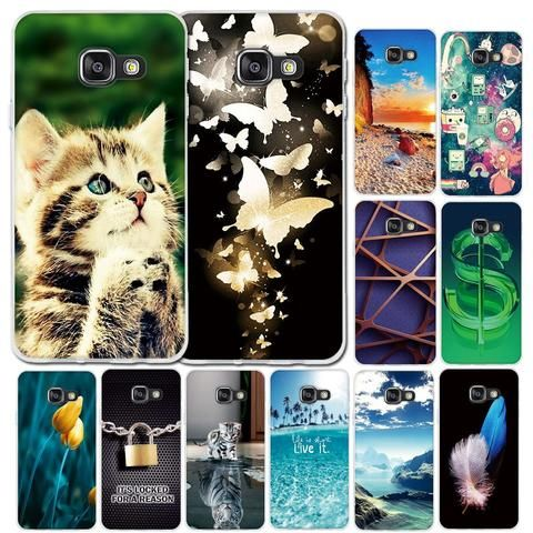Phone Case For Samsung Galaxy A3 2016 A310f Case 3d Tpu Soft Case Silicone Cover For Samsung A3 2016 A310f A310 4 7 Cat Flowers Silicon Case Samsung Galaxy A3