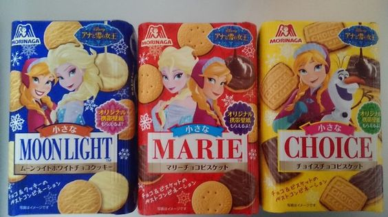 Morinaga Disney frozen cakes chocolate snacks 3sets choice marie moonlight #Disney
