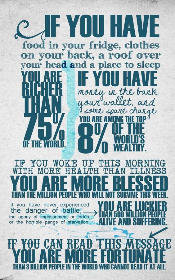 So finances have really been stressing me out lately and this really puts everything in perspective for me. God has truly blessed me!