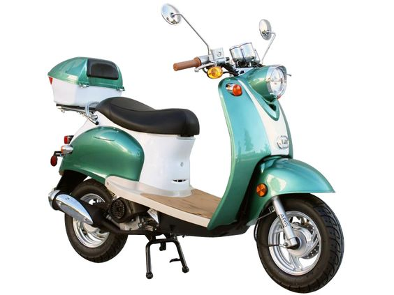 50cc 4 Stroke Euro Moped Gas Motor Scooters