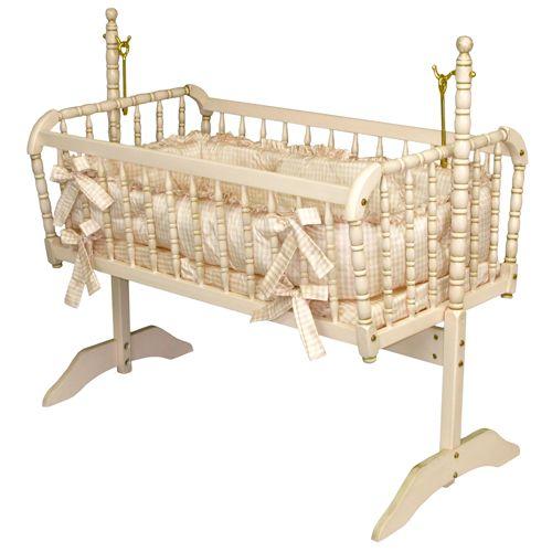 Antique Spindle Cradle in Versailles Finish @PoshTots
