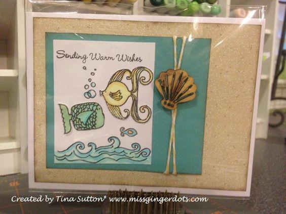 by Tina Sutton: Handmade Cards, Ctmh Cards, Cards Beach, Art Retired, Cards Cards, Card Ideas, Art Footloose Art, Cards Handmade, 2039 Newfish