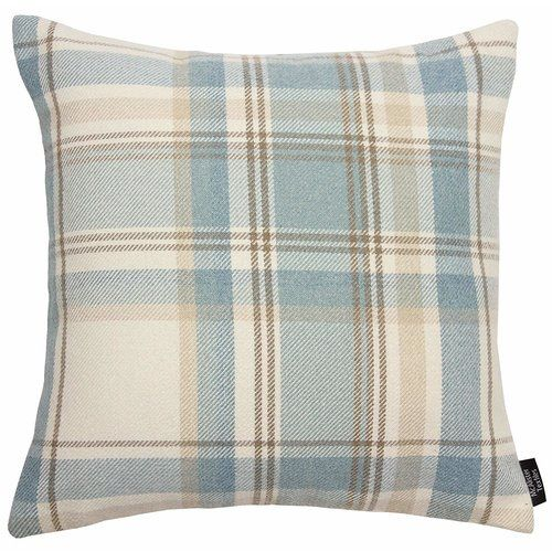 Union Rustic Griggs Cushion In 2020 Duck Egg Blue Cushions Duck Egg Blue Tartan Cushions
