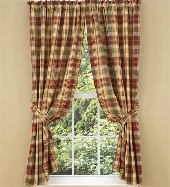 Saffron Lined Panel Curtains 84 Country Style Curtains Panel