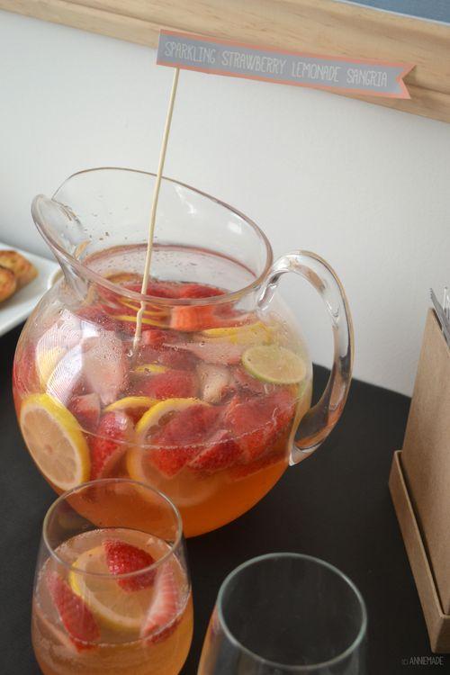 : Sparkling Strawberry Lemonade Sangria Recipe   Strawberry lemonade ...