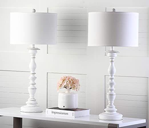 Safavieh Lighting Collection Bessie Candlestick White 62-inch Floor Lamp