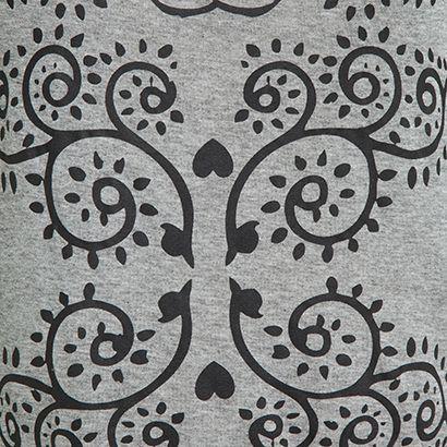 J. CHERMANN - T-shirt manga longa J. Chermann arabesco - cinza - OQVestir