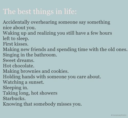 .: Little Things, First Kiss, Favorite Things, Life Quote, Simple Things, So True, Littlethings, Quotes Sayings, Minus Starbucks