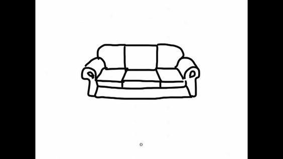 Ipad Draw A Simple Cartoon Sofa 2 Simple Couch Sofa Drawing Chair Drawing