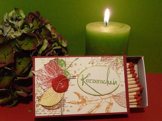 """Herbst - """"HERBSTZAUBER"""" xxl Streichholzschachtel - ein Designerstück von dracarena bei DaWanda"""