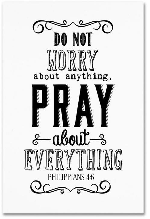 Trademark Global Marcee Duggar 'Pray About Everything' Canvas Art - 24 x 16 x 2