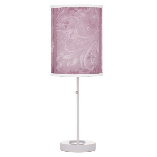 Rose Swirls Table Lamps.................... This design features an rose color shadowy, textured, forest design that has faded, graceful swirls.   Check out my store for same design with different colors