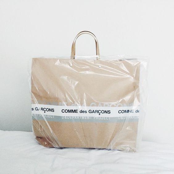 Raining? No problem #rain #commedesgarcons #cdg #omotesando #tokyo #vscocam #packaging
