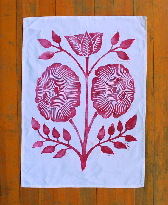 Block Printed Tea Towel $ 26