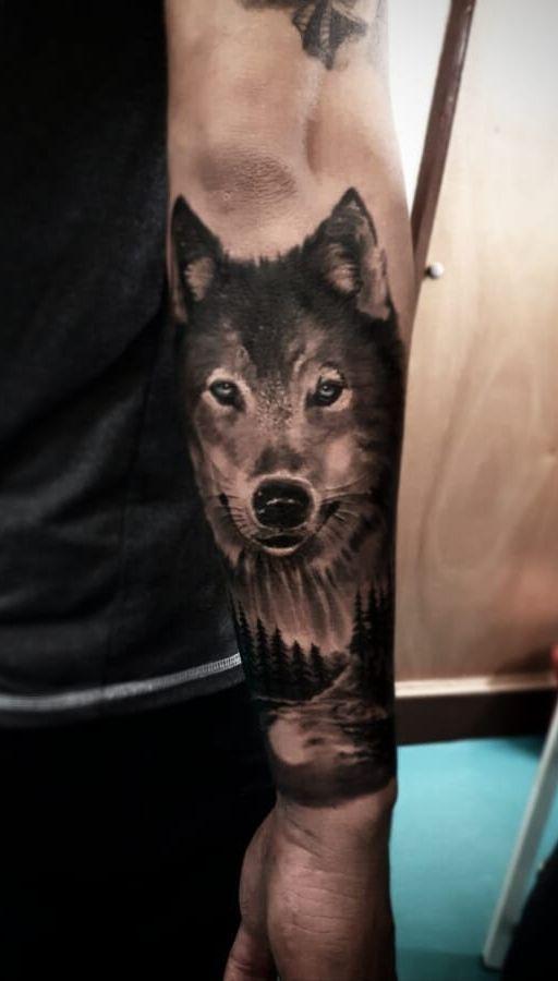 Black Gray Realistic Wolf Tattoo C Tattoo Artist Leo Blackcat Marin Wolf Tattoos Wolf Tattoo Design Tattoo Designs