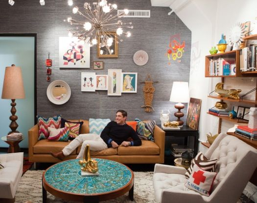 Jonathan Adler. I love this space. Finished basement inspiration?