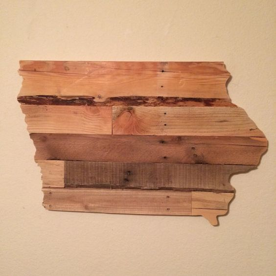 Reclaimed Wood Iowa State Sign by HarborAndHome on Etsy - Iowa State, Iowa And US States On Pinterest