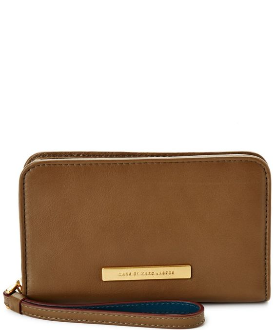 MARC BY MARC JACOBS Marc By Marc Jacobs Luna Wingman Leather Wallet'. #marcbymarcjacobs #bags #shoulder bags #wallet #leather #accessories #lining #