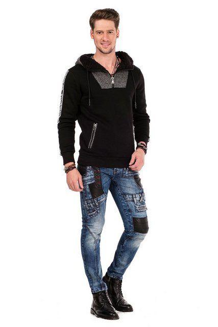 Herren Sweatshirt Mit Kapuze Und Labeldetails Herren Sweatshirt Sweatshirt T Shirt
