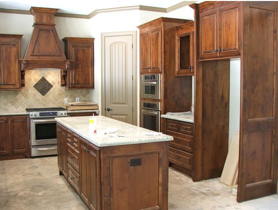 Knotty alder kitchen cabinets home at last pinterest dark pantry and hickory kitchen cabinets - Knotty hickory kitchen cabinets ...