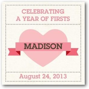 Custom Gift Tag Stickers Celebrate First - Front : Watermelon