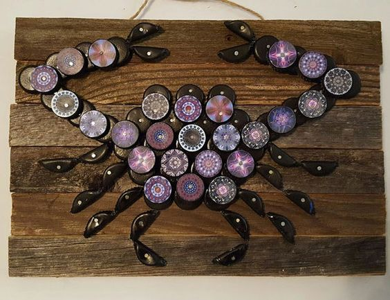Bottle Cap Crab by CapstractArt on Etsy