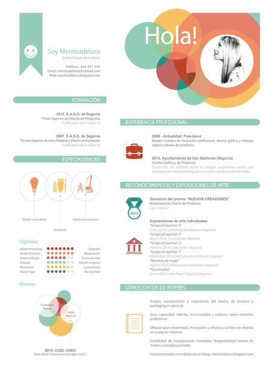 Ejemplo de Curriculum Creativo By Mentiradeloro Resume cv, Cv - translator resume