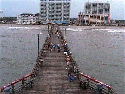 Cherries beaches and resorts on pinterest for Cherry grove pier fishing report