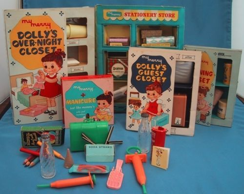Vintage 1959 My Merry Toy Closet Boxed Playsets Merry Manufacturing Co