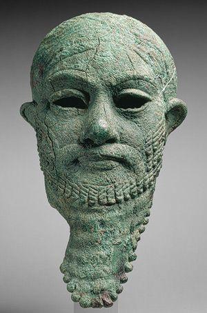 Head Of An Akkadian Ruler Iran, Copper and Metro...
