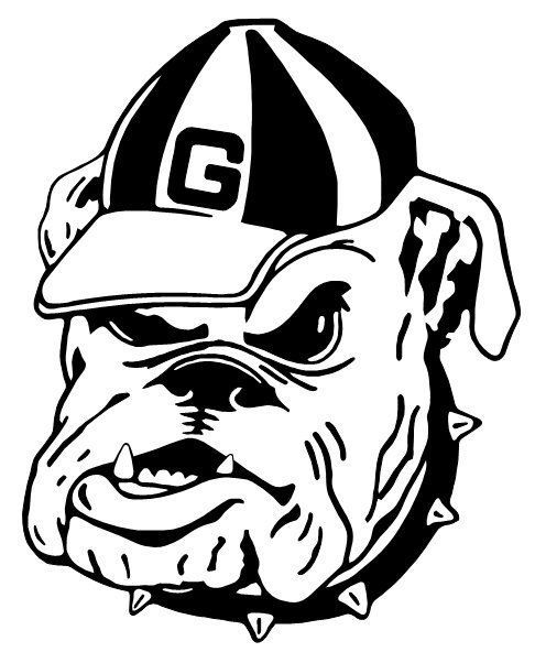 Georgia Bulldog Coloring Pages Georgia Bulldogs Bulldog Georgia