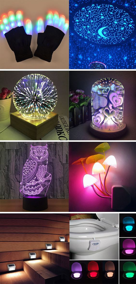 Wood Colorful 3d Light Magic Projector Ball Usb Powered Table Lamp