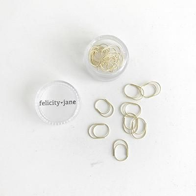 Felicity Jane Miniwide Paper Clips - Gold