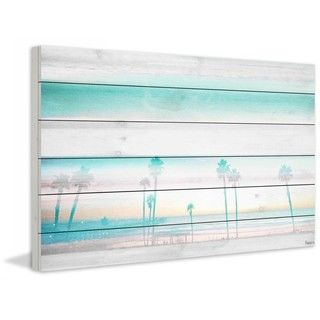 Shop for Parvez Taj - Hazy Beach Print on White Wood and more for everyday discount prices at Overstock.com - Your Online Home Decor Store!