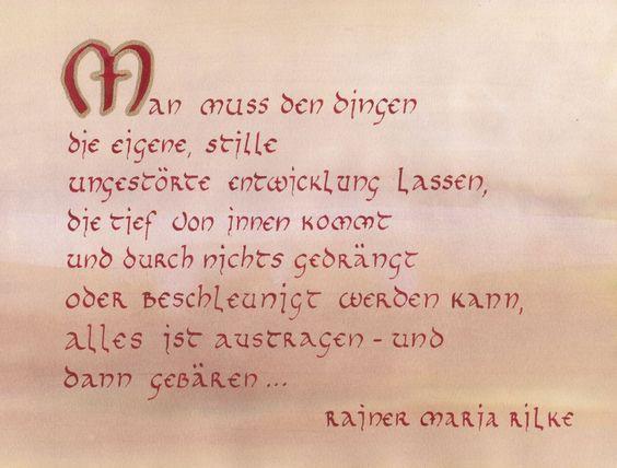 Rilke-Gedicht in Unziale
