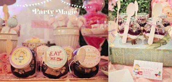 alice in wonderland party dessert table