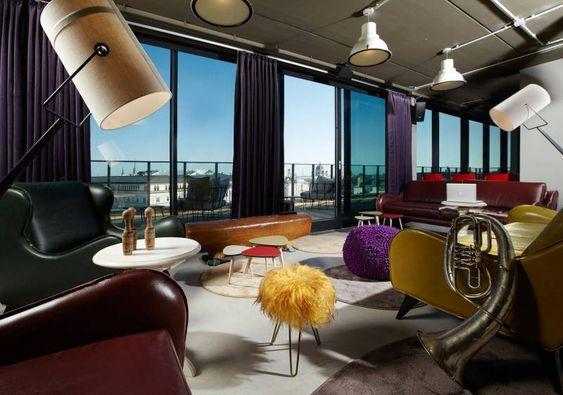 Dachboden Lounge at 25hours Hotel Vienna Dachboden Lounge im - designermobel einrichtung hotel venedig